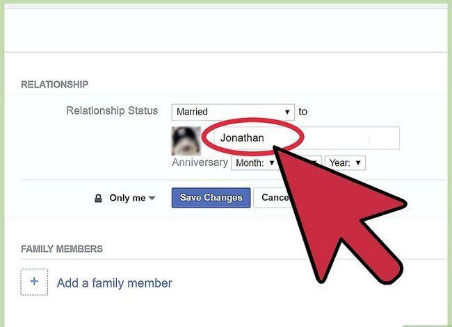 Prent getiteld Verander jou verhoudingsstatus op Facebook Stap 13