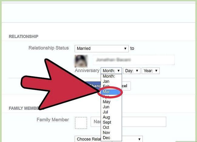 Prent getiteld Verander jou verhoudingsstatus op Facebook Stap 14