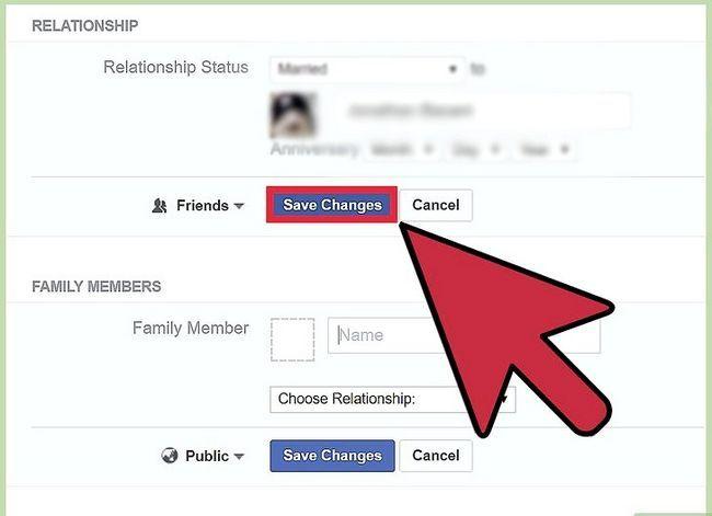 Prent getiteld Verander jou verhoudingsstatus op Facebook Stap 16