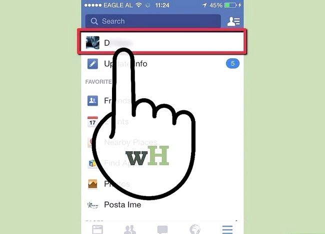Prent getiteld Verander jou verhoudingsstatus op Facebook Stap 2