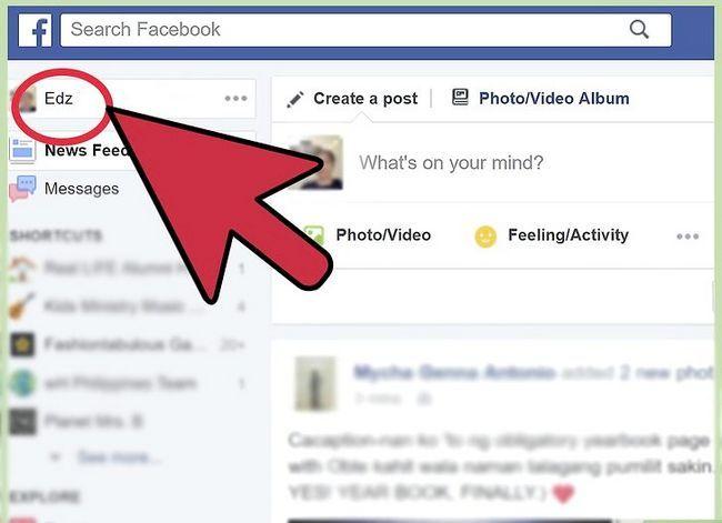 Prent getiteld Verander jou verhoudingsstatus op Facebook Stap 10