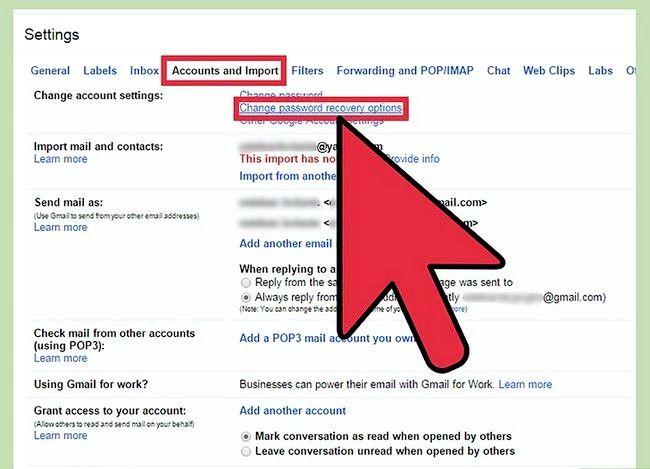 Prent getiteld Verander jou opsies vir die herstel van Gmail Wagwoord Stap 4
