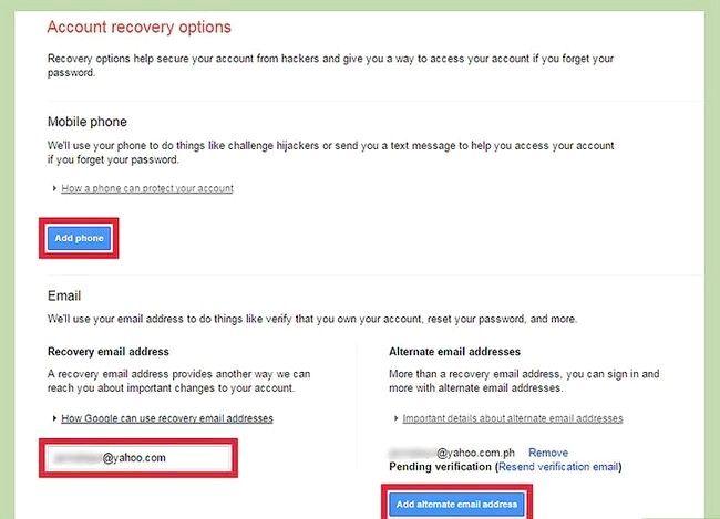 Prent getiteld Verander jou Gmail Wagwoord herstel opsies Stap 6