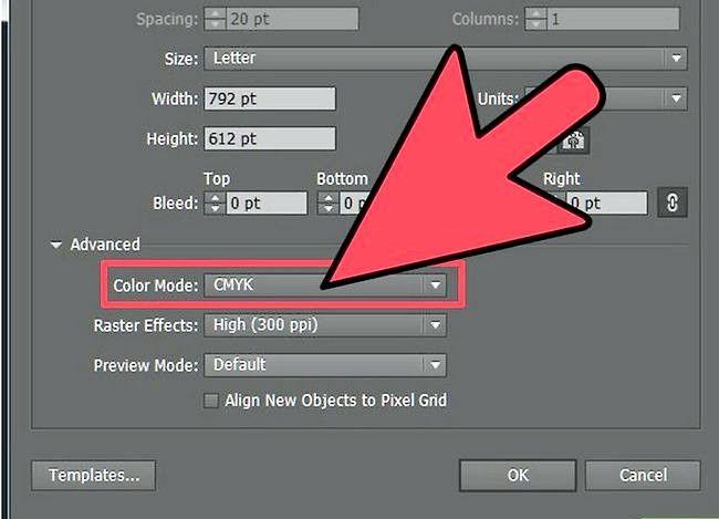 Prent getiteld Verander Adobe Illustrator na CMYK Stap 1