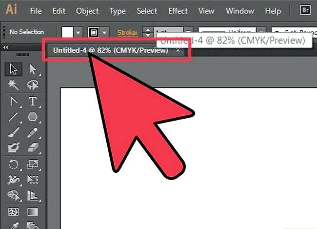 Prent getiteld Verander Adobe Illustrator na CMYK Stap 2