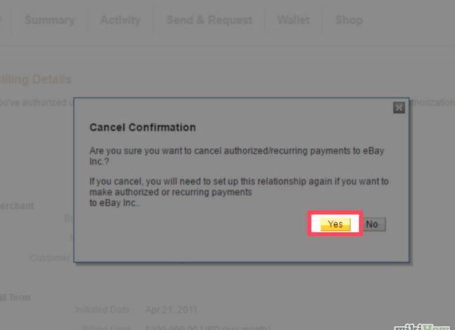 Prent getiteld Kanselleer `n PayPal-inskrywing Stap 9.jpg