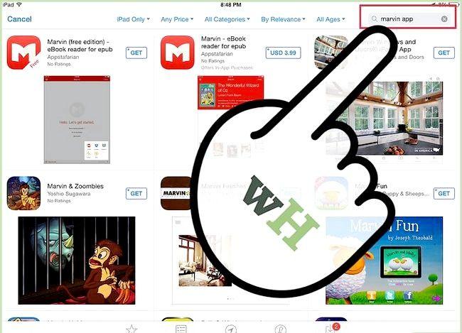 Prent getiteld Laai e-boeke na Marvin van Dropbox Stap 2