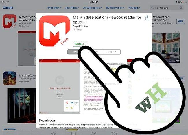 Prent getiteld Laai e-boeke na Marvin uit Dropbox Stap 4