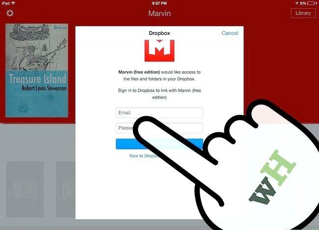 Prent getiteld Laai e-boeke na Marvin uit Dropbox Stap 8