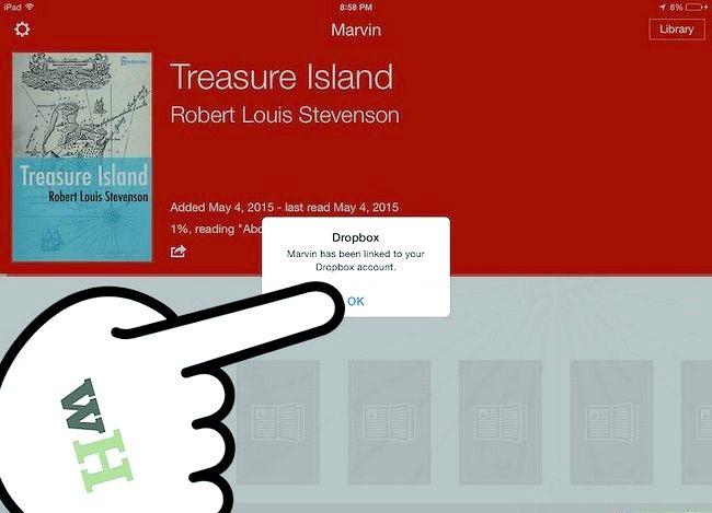 Prent getiteld Loop e-boeke in Marvin uit Dropbox Stap 9