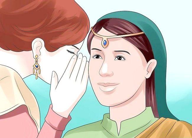Prent getiteld Vier `n tradisionele Hindoe trou Stap 14