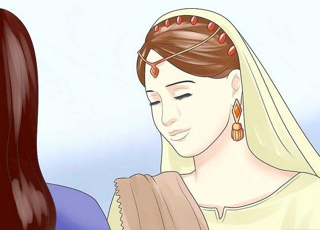 Prent getiteld Vier `n tradisionele Hindoe trou Stap 15