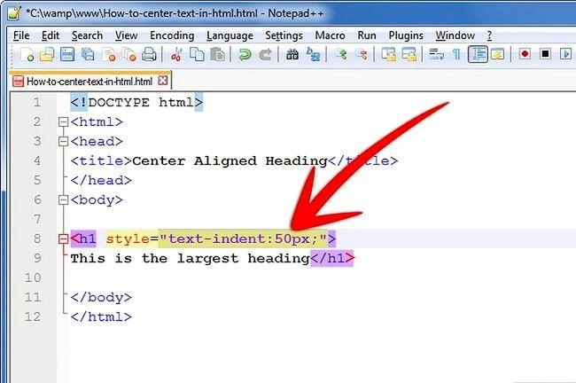 Prent getiteld Sentrum teks in HTML Stap 6Bullet2