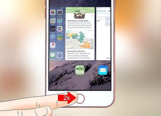 Prent getiteld Gebruik `n iPhone Stap 17