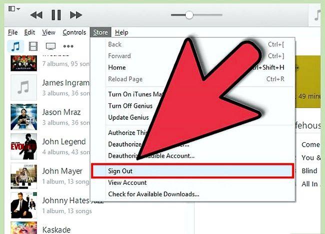 Beeld getiteld Teken uit van iTunes Stap 3