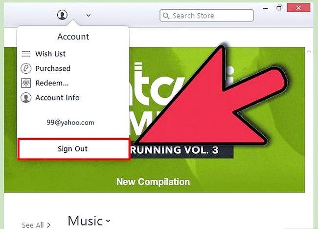 Beeld getiteld Teken uit van iTunes Stap 6