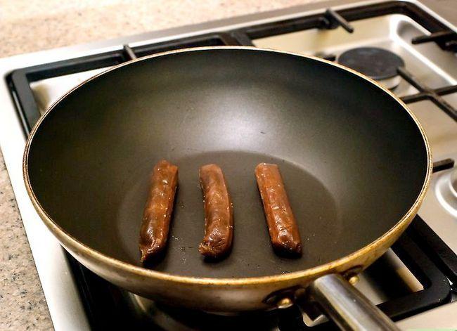 Prent getiteld Cook Chorizo Stap 2