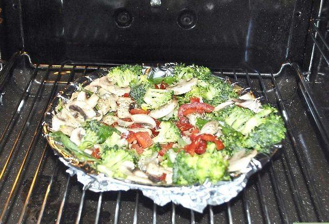 Prent getiteld Kook Vegetariese Pasta Stap 4