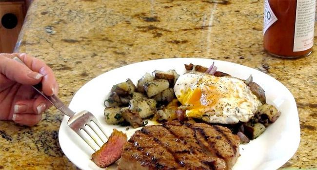 Image getiteld Cook Ontbyt Steak Stap 13