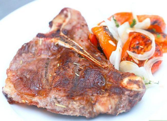 Prent getiteld Kook `n T-been Steak Stap 15