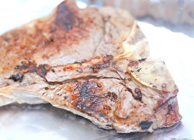 Prent getiteld Kook `n T-been Steak Stap 20