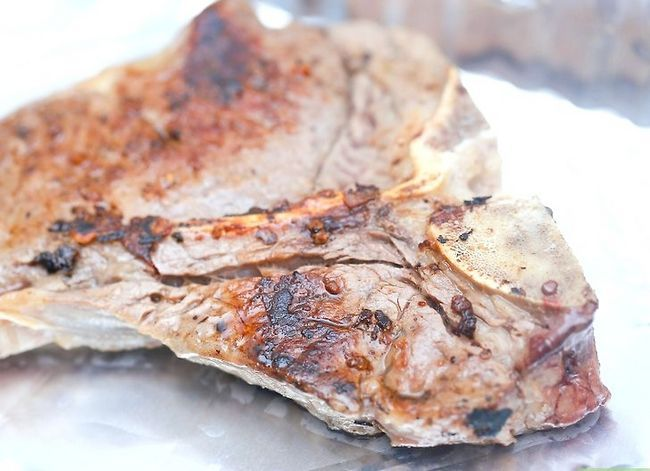 Prent getiteld Kook `n T-been Steak Stap 7