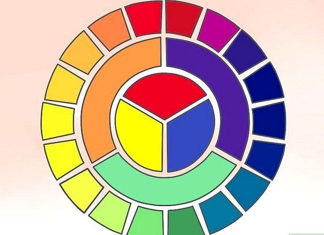 Prent getiteld Koördineer kleure Stap 1