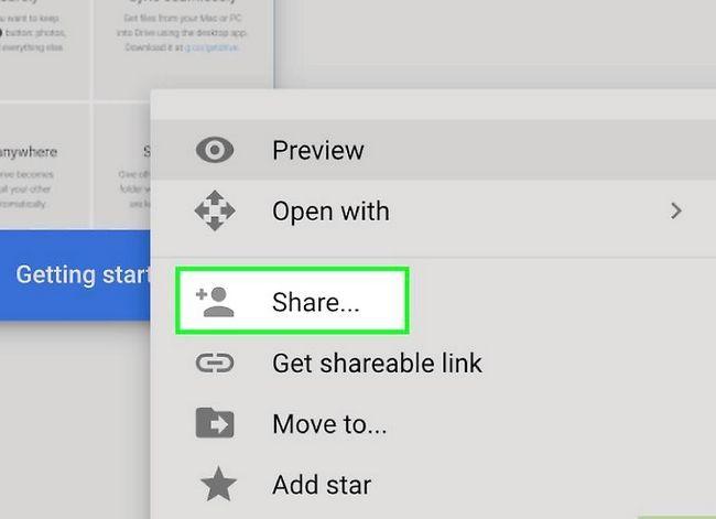 Prent getiteld Deel groot lêers op Google Drive Stap 5