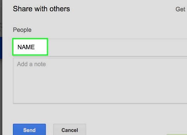 Prent getiteld Deel groot lêers op Google Drive Stap 6