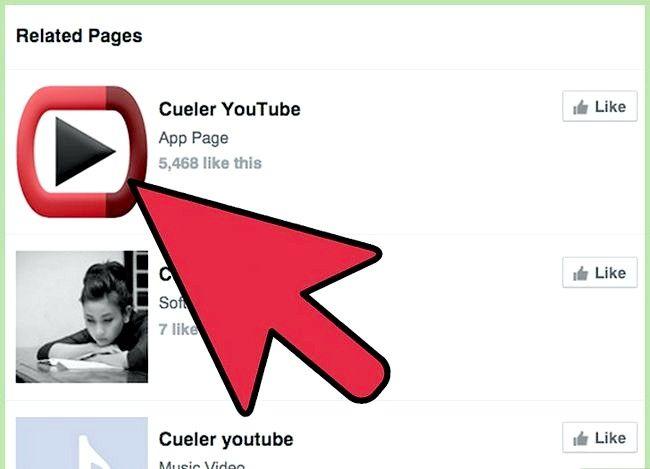 Prent getiteld Auto Deel YouTube-video`s op `n Facebook-fanbladsy met die Cueler YouTube-program Stap 2
