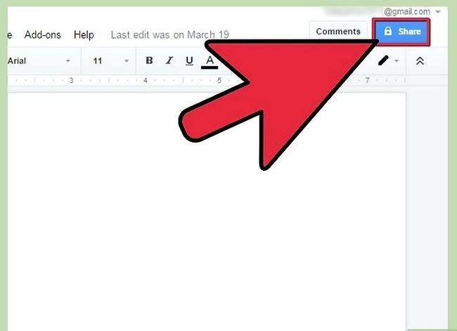 Prent getiteld Deel Google Docs Stap 7