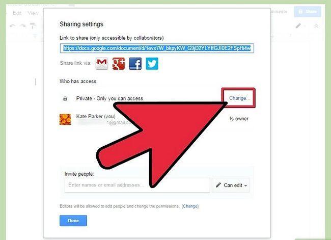 Prent getiteld Deel Google Docs Stap 9