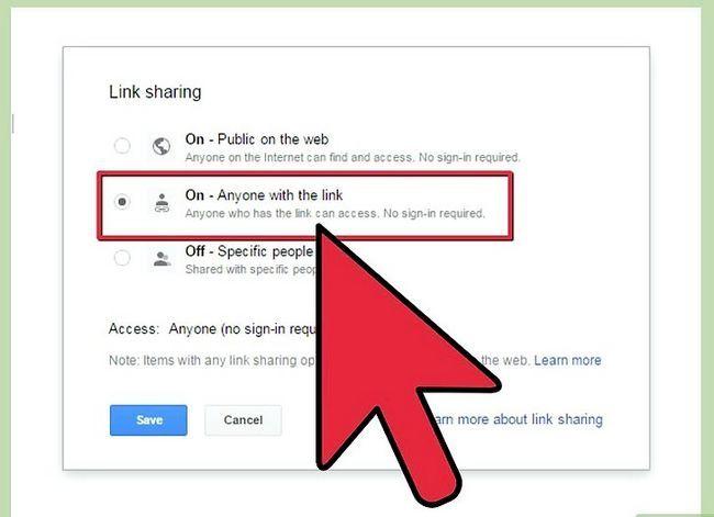 Prent getiteld Deel Google Docs Stap 10