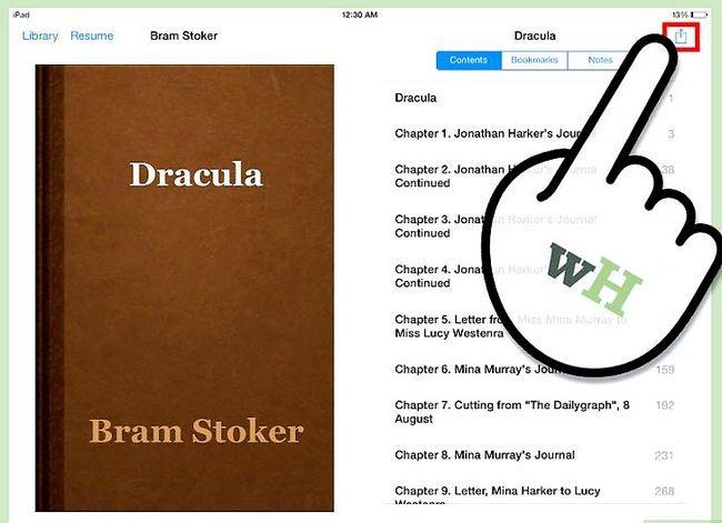 Prent getiteld Deel Boeke op iPad Stap 4