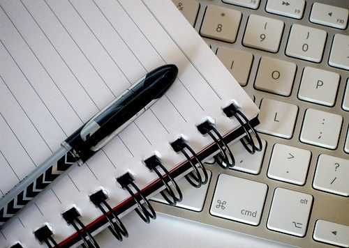 Prent getiteld skryfgereedskap