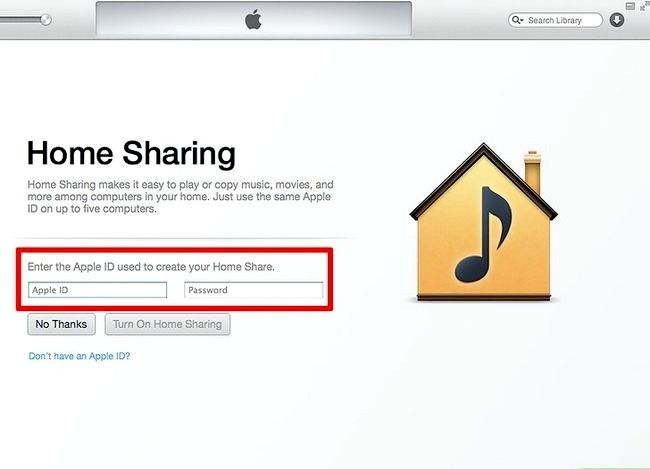 Prent getiteld Deel musiek tussen twee rekenaars met Home Share Stap 4