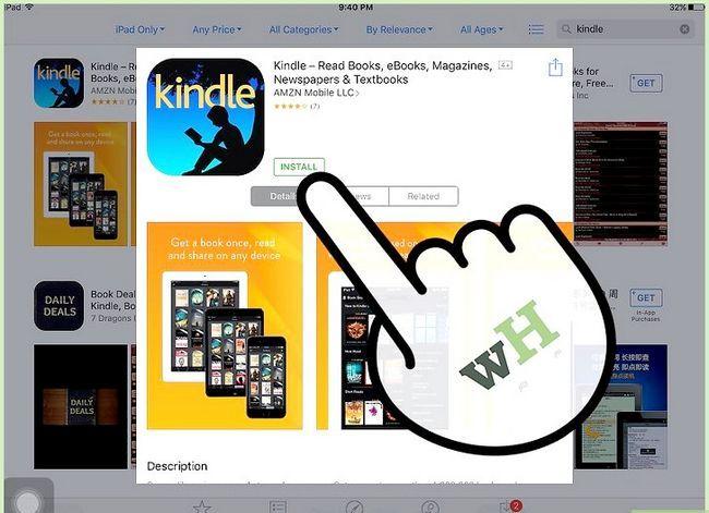 Prent getiteld Koop Kindle Boeke op die iPad Stap 4