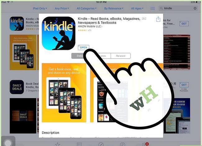 Prent getiteld Koop Kindle Boeke op die iPad Stap 5