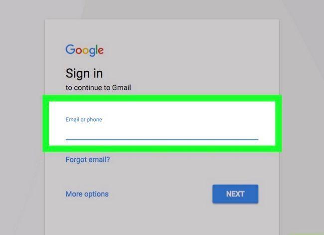 Prent getiteld Kyk of jou Gmail-rekening stap 1 is