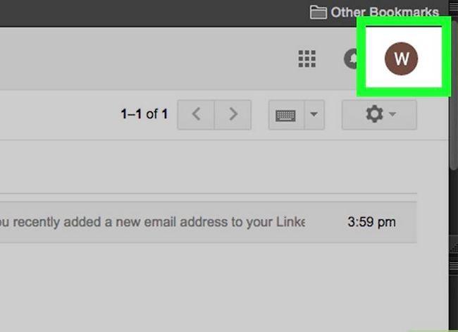 Prent getiteld Kyk of jou Gmail-rekening stap 2 is