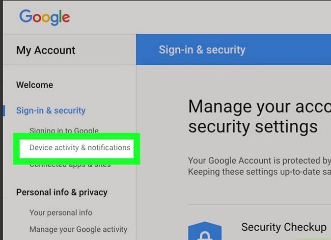 Prent getiteld Kyk of u Gmail-rekening haak is, stap 5
