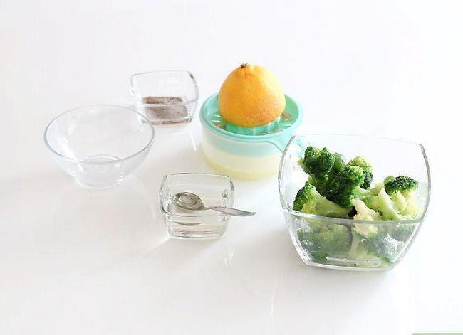 Prent getiteld Seisoen Broccoli Stap 1