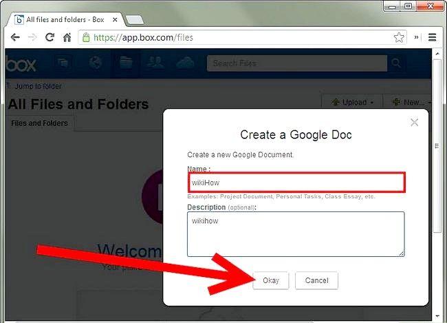 Prent getiteld Maak jou kassie rekening aan Google Docs Stap 3