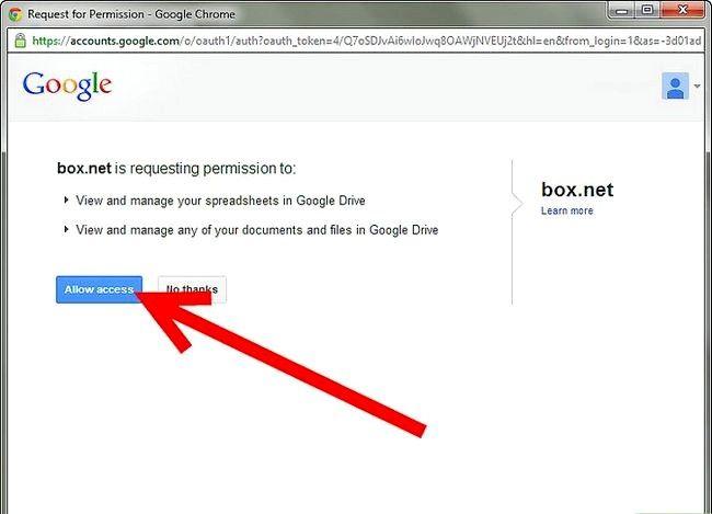 Prent getiteld Sluit jou kassie rekening aan op Google Docs Stap 4