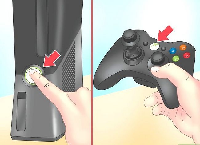 Prent getiteld Sluit `n draadloze Xbox 360-kontroleerder aan. Stap 1