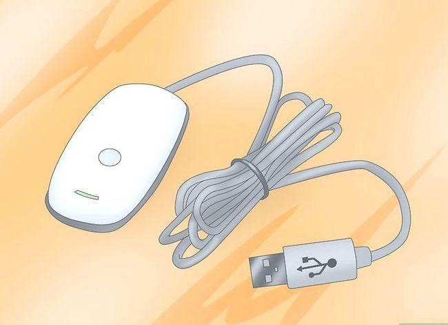 Prent getiteld Sluit `n Wireless Xbox 360 Controller aan op stap 5