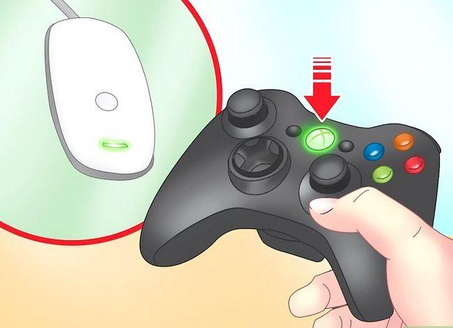 Prent getiteld Sluit `n Wireless Xbox 360 Controller Stap 8 aan