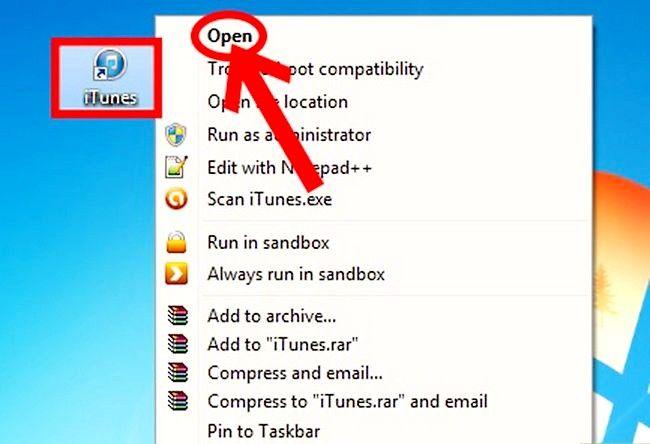 Prent getiteld Sluit `n nuwe toestel aan op iTunes Stap 1