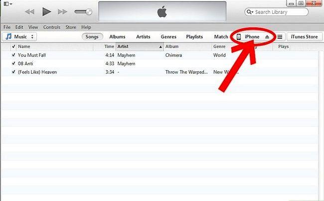 Prent getiteld Sluit `n nuwe toestel aan op iTunes Stap 4