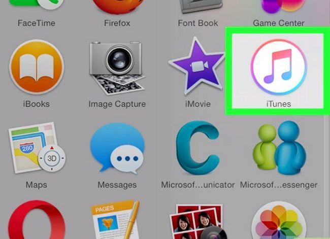 Prent getiteld Sluit `n iPad aan op iTunes Stap 1
